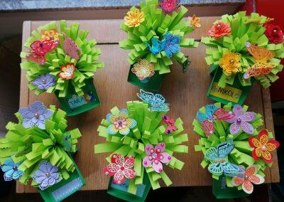 Cvjetni buketi od papira